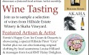 First Friday Wine Tasting with Hillside & Skaha Wineries