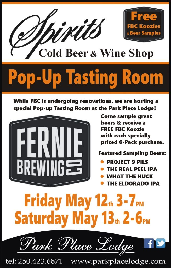 Saturday Pop-Up Tasting Room with Fernie Brewing Co